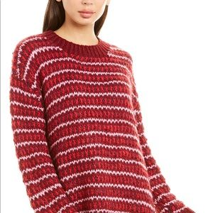 For Love & Lemons Chunky Striped Sweater Small